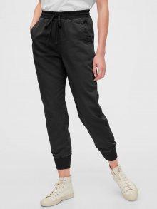 Černé dámské kalhoty GAP Ribbed Joggers