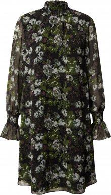 Trendyol Šaty černá / mix barev / zelená