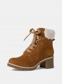 Tamaris hnědé zimní kotníkové boty - 41