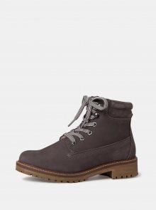 Tamaris šedé zimní kotníkové boty - 39