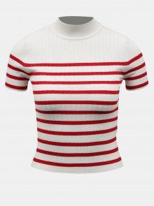 Bílé pruhované krátké tričko TALLY WEiJL - XS