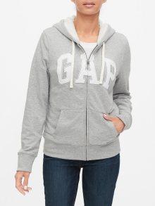 GAP šedá dámská mikina s logem - XL