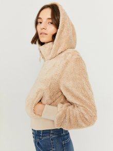 Béžová bunda z umělého kožíšku TALLY WEiJL - S