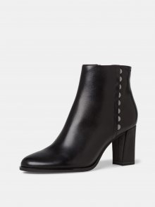 Tamaris černé kotníkové kožené boty - 39
