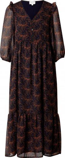 Maison 123 Košilové šaty \'CLAIRE\' noční modrá / černá / lososová
