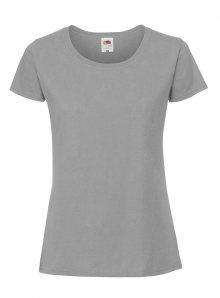 Dámské tričko Premium - Zinkově šedá XS