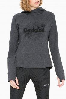 Desigual tmavě šedá sportovní mikina Essential