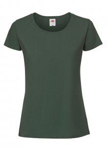 Dámské tričko Premium - Lahvově zelená XS