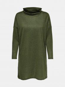 Zelené volné svetrové šaty Jacqueline de Yong