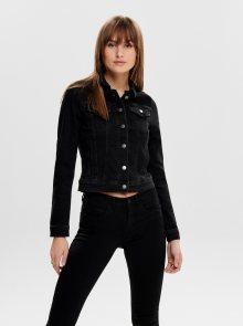 Černá džínová bunda Jacqueline de Yong