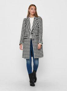 Černo-bílý vzorovaný kabát Jacqueline de Yong Zarina