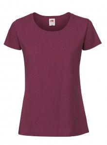 Dámské tričko Premium - bordó S