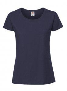 Dámské tričko Premium - Námořní modrá S