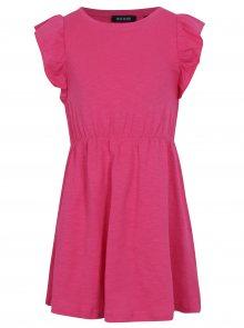 Růžové holčičí šaty s volány Blue Seven
