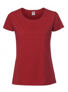 Dámské tričko Premium - Červená XS