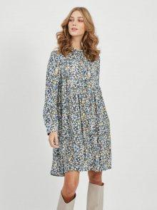 Modré květované volné šaty .OBJECT