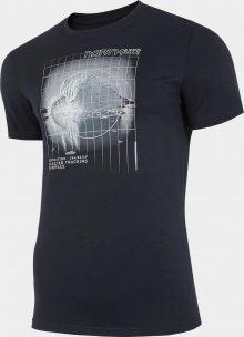 Pánské tričko 4F TSM227 Tmavě modré Modrá L