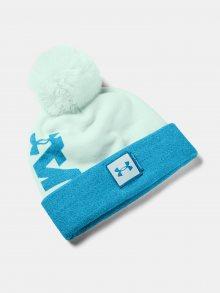 Modrá čepice Under Armour UA Big Pom Logo Beanie