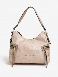 Béžová vzorovaná kabelka Gionni Malvina