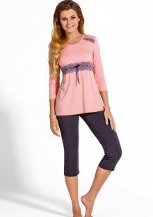 Dámské pyžamo Babella Carmella XXL Světle růžová