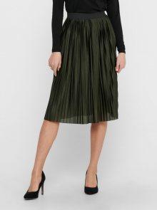 Jacqueline de Yong khaki plisovaná sukně ke kolenům  - XS