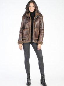 Carla by Rozarancio Dámský kabát CR18F P3061 BROWN\n\n