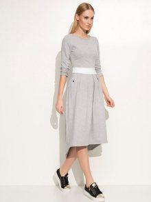 Makadamia Dámské šaty m335_grey melange