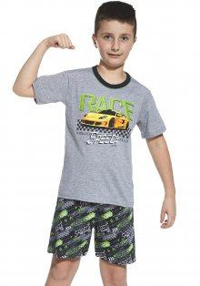 Chlapecké pyžamo Cornette 790/56 134/140 Tm. šedá