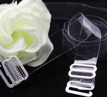 Silikonová ramínka 10 mm kovový háček Bílá