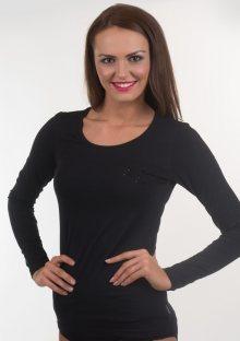 Dámské tričko Emporio Armani 163378 6A263 černá XS Černá