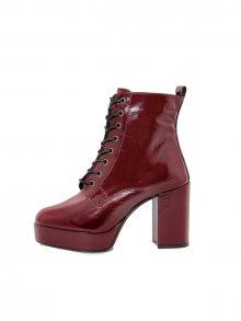 Gusto Kotníkové boty na podpatku 5525_NAPLAK_BORDO\n\n