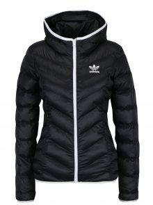 Černá dámská prošívaná bunda s kapucí adidas Originals Slim