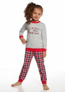 Dívčí pyžamo Cornette 592/69 Winter 134/140 ŠedáEA