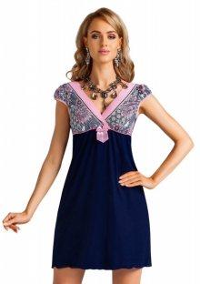 Noční košilka Donna Raisa XL Granat modrá