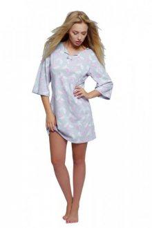 Sensis Kim Noční košile XL šedo-růžová