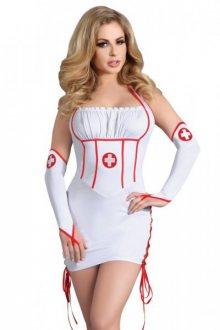 Dámský kostým Raisa L/XL bílá