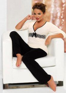 Dámské pyžamo Donna Andrea 3XL Smetanová