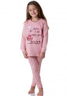 Dívčí pyžamo Cotonella DB241 9/10 Lososová
