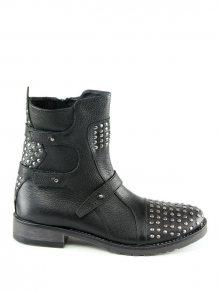 Karakool Dámská kotníčková obuv BELEN-BLACK_COW BOTTALATO