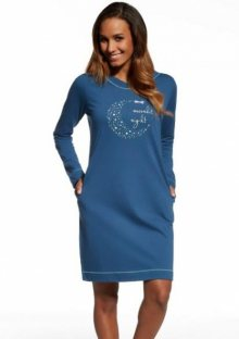 Dámská noční košile Cornette 614/112 Moonlit 2 S Blu