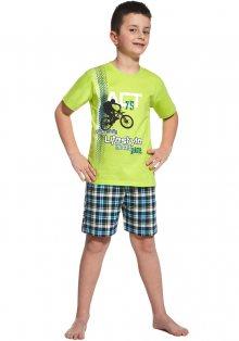 Chlapecké pyžamo Cornette 790/54 134/140 zelenkavá C207