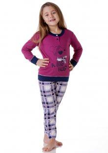 Dívčí pyžamo Cotonella DB248 5/6 Rubínová