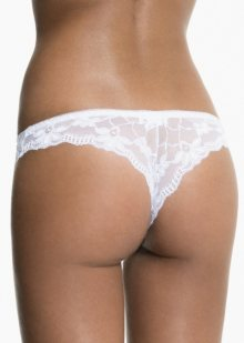 Kalhotky brazilky Pierre Cardin Lime L Bílá