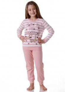 Dívčí pyžamo Cotonella DB242 3/4 Lososová