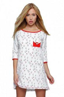 Sensis Pingwin noční košilka L/XL bílo-červená