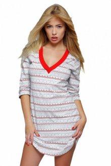 Sensis Snowflake noční košile šedá XL šedo-červená