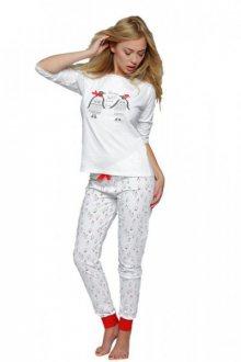 Sensis Pingwin Dámské pyžamo XL bílo-červená