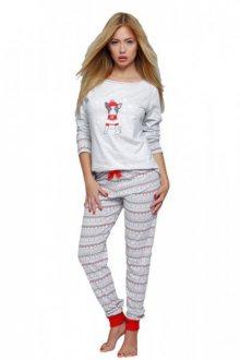 Sensis Little Dog vánoční pyžamo XL šedo-červená