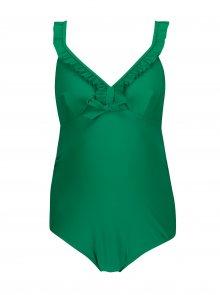 Zelené těhotenské plavky s volány Mama.licious Nada