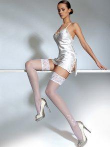 Knittex Dámské samodržíci punčochy Serenity-20-white\n\n